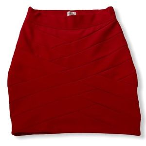NWOT Red bandage skirt